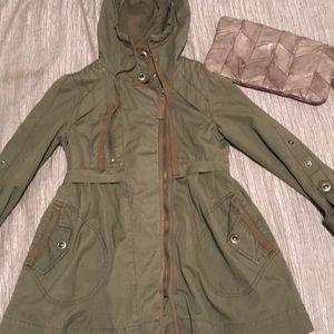 Topshop  army green hoodie